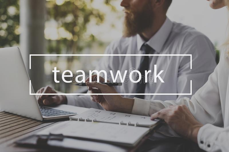 Collaboration Teamwork Business Strategy Target Word royalty free stock images