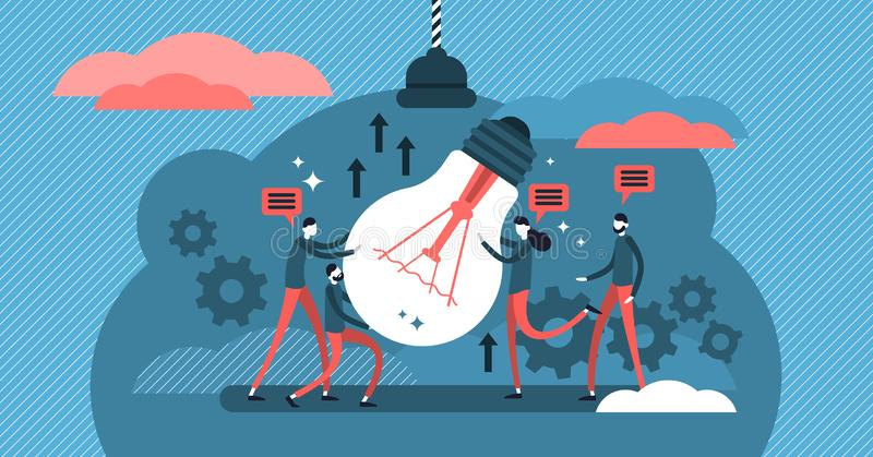Collaboration vector illustration. Process of people working together. vector illustration