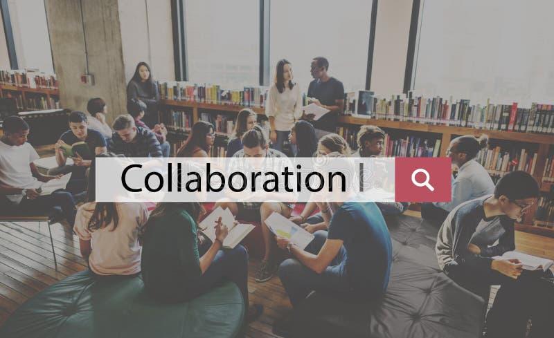 Collaborazione Team Building Support Help Teamwork corporativo concentrato fotografia stock libera da diritti