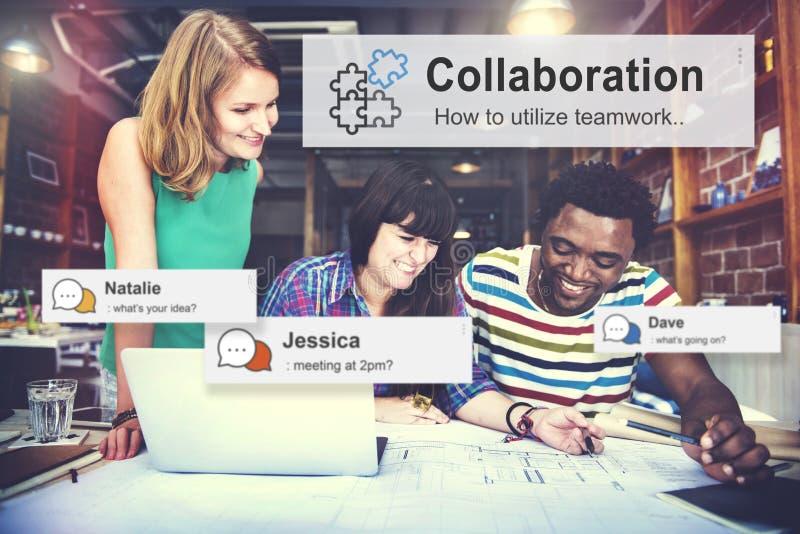 Collaborazione Team Teamwork Partnership Concept immagine stock libera da diritti