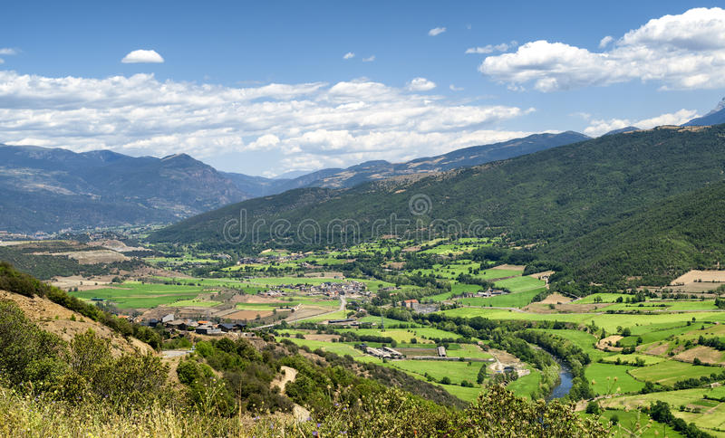 Collado del Canto (Pyrenees, Catalunya). Mountain landscape of Pyrenees from the Collado del Canto (Catalunya, Spain) at summer stock photography