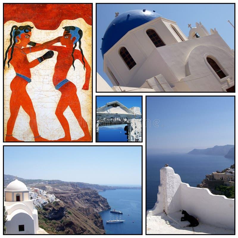 Collage 02 di Santorini fotografia stock libera da diritti
