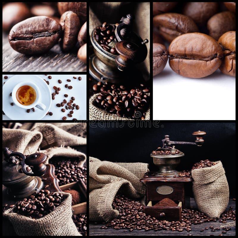 Collage 1 del café imagen de archivo
