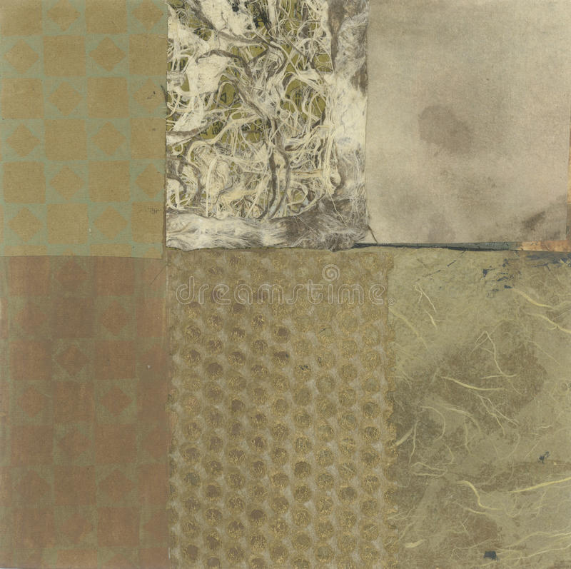 Collage abstracto stock de ilustración