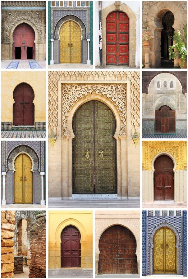 Arabic oriental styled doors royalty free stock image