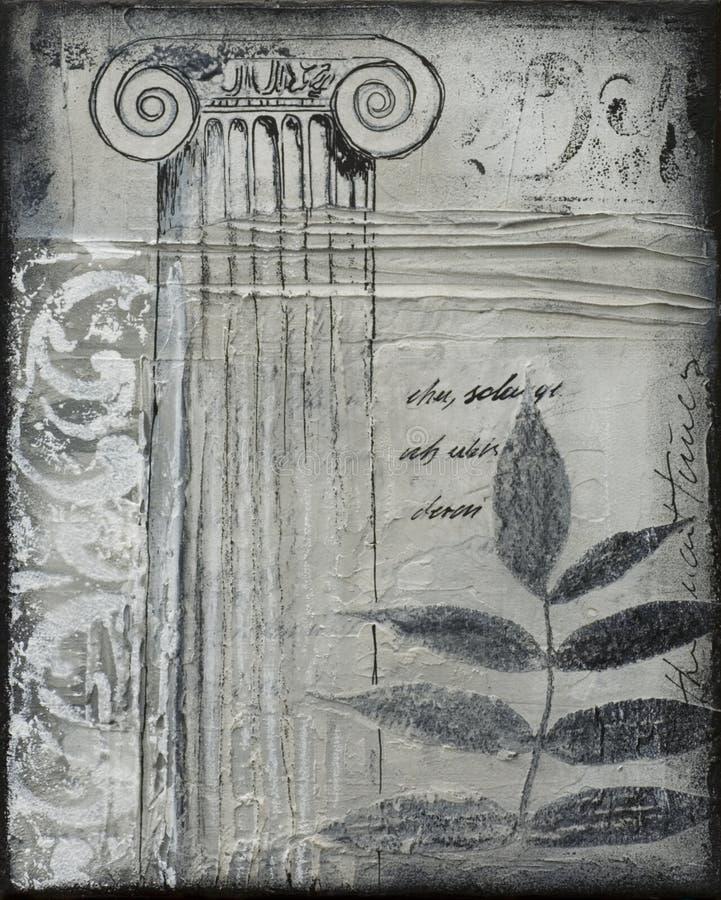 Collage artwork with leaf vector illustration