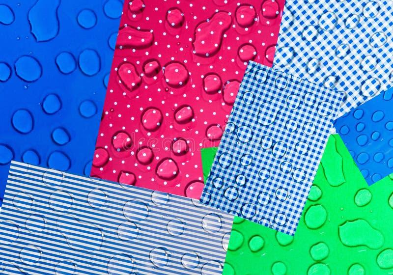 Collage astratto delle immagini di colore con le gocce di acqua illustrazione vettoriale