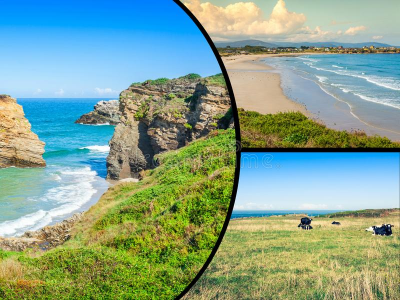 Collage of Asturias Spain Europe royalty free stock image