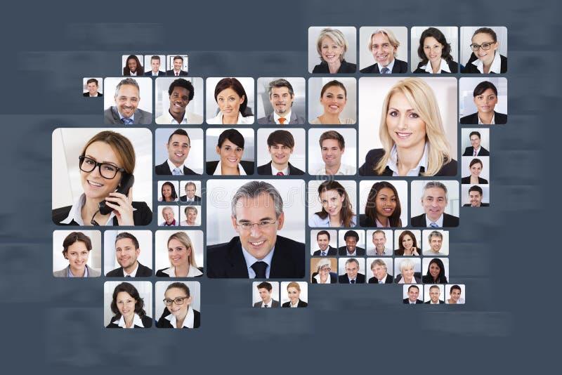 Collage av affärsfolk arkivfoton