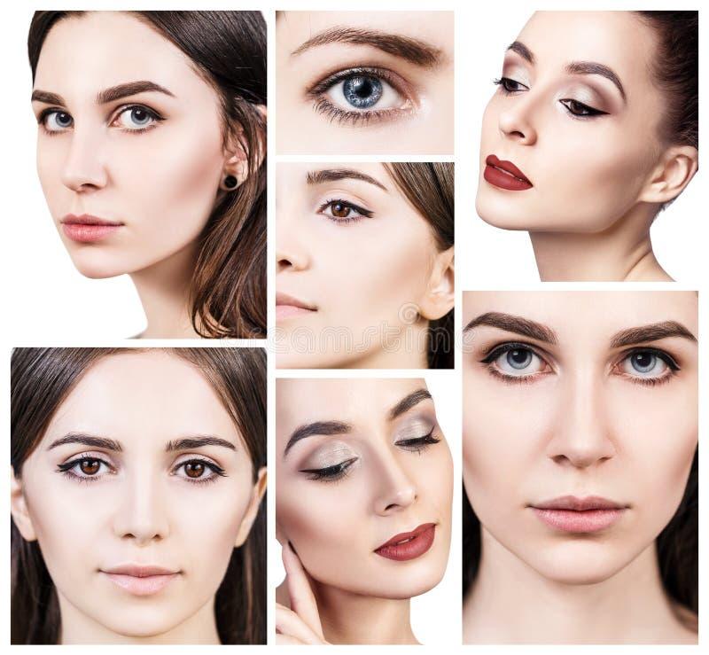 Collage av härlig ` s för unga kvinnor royaltyfri bild