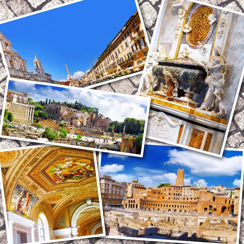 Collage av härliga Italien royaltyfria bilder