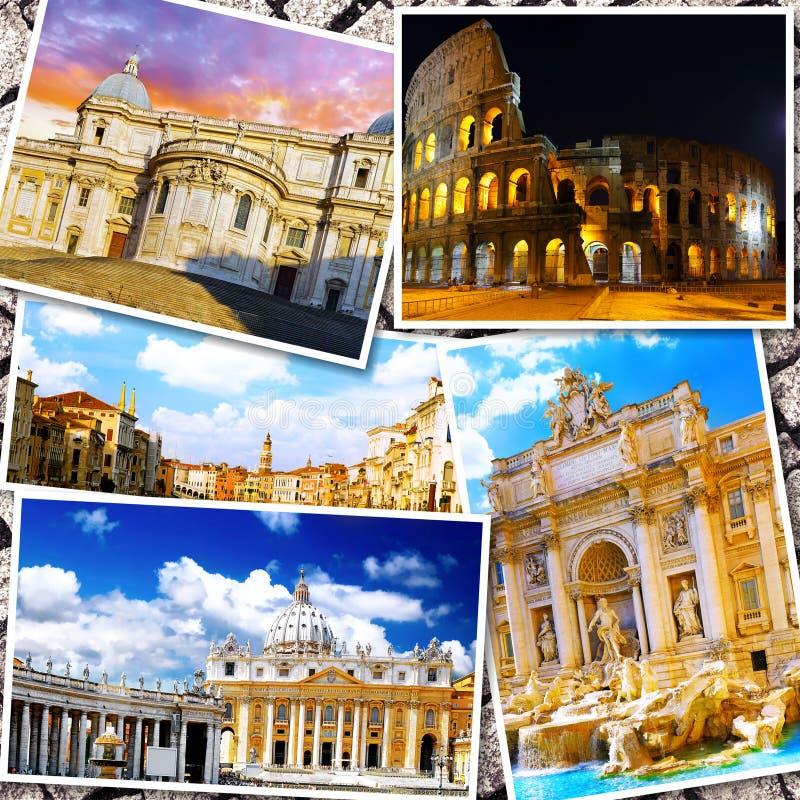 Collage av härliga Italien fotografering för bildbyråer