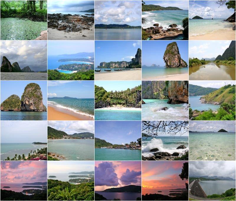 Collage av härliga Thailand i bilder royaltyfri bild