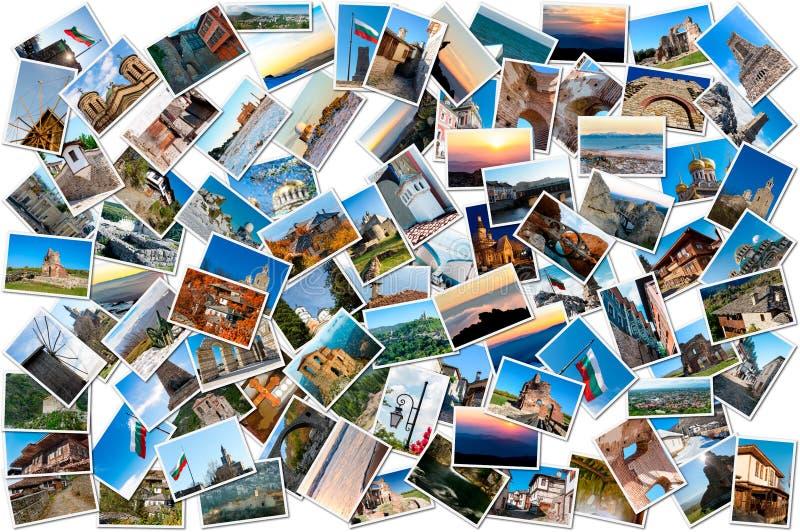 Collage av loppfoto från Bulgarien fotografering för bildbyråer