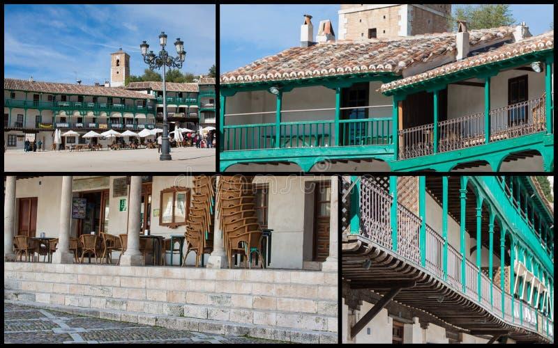 Collage av nollan Chinchon Spanien Europa arkivbilder