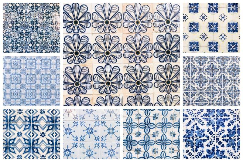 Collage av portugisiska tegelplattor royaltyfria foton