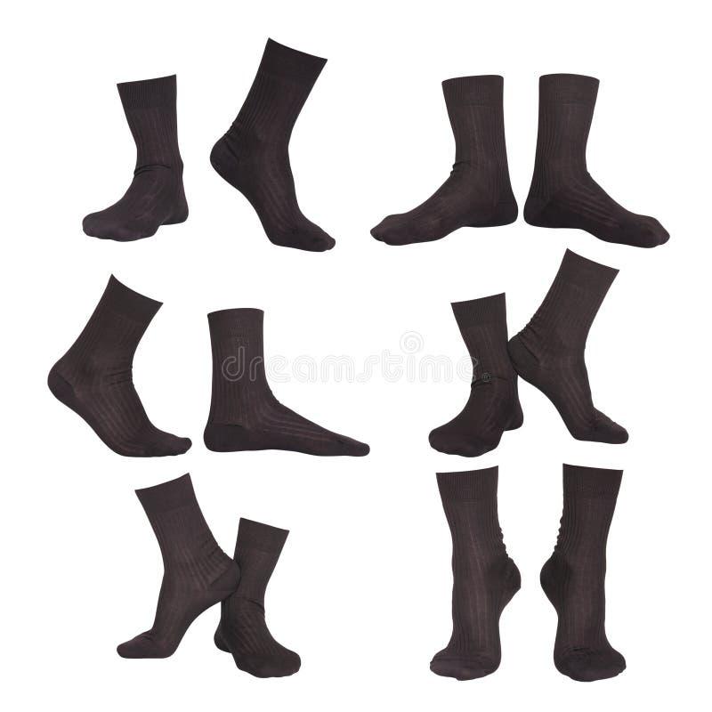Collage av sockor arkivfoton