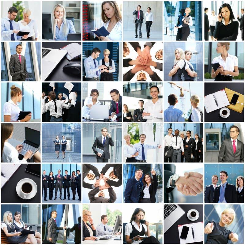 Collage av ungt affärsfolk arkivfoto