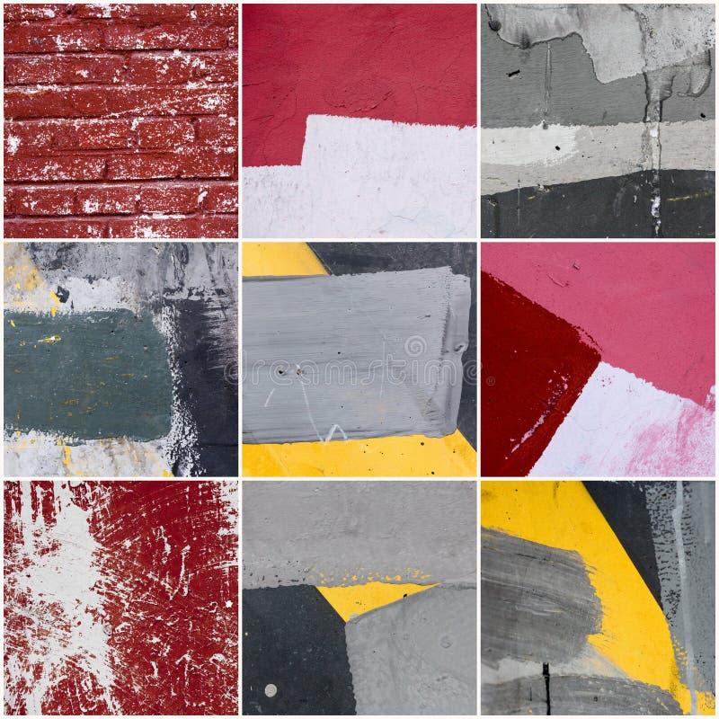 Collage av väggtextur royaltyfria bilder