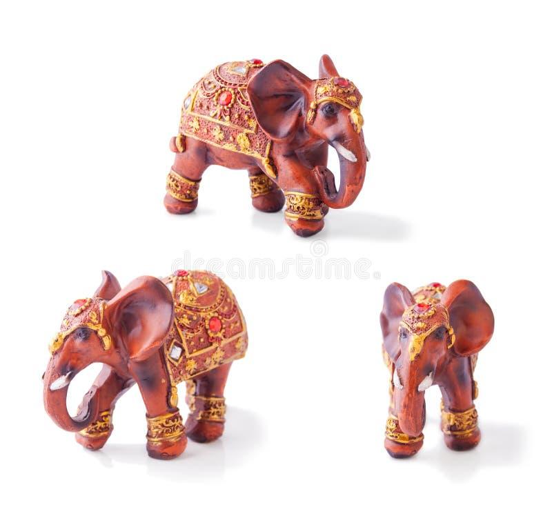 Collage avec l'éléphant d'Asie photographie stock