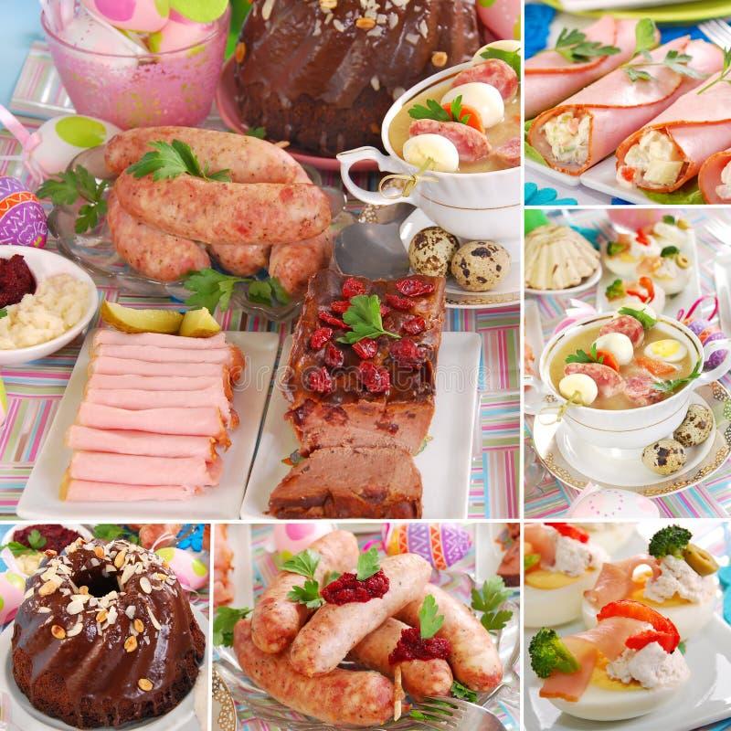 Collage avec les paraboloïdes polonais traditionnels de Pâques photo stock