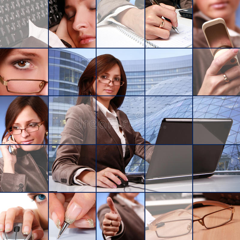 Collage azul fotos de archivo libres de regalías