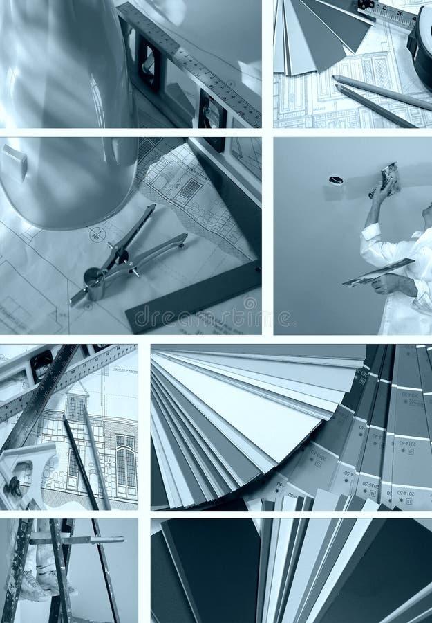 Collage B/W di miglioramento domestico fotografia stock
