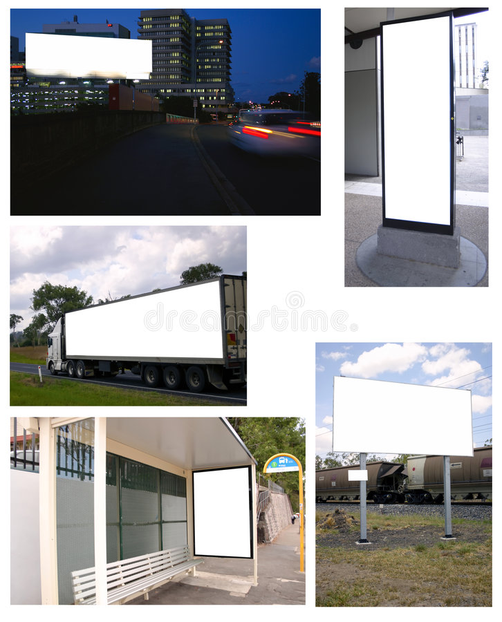 Download Collage of billboards stock image. Image of outdoor, estate - 4699179