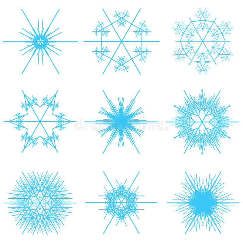 Collage of blue snowflakes