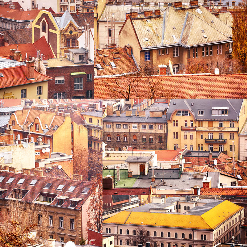 Download Collage Of Buildings From Budapest Stock Image - Image: 27977461