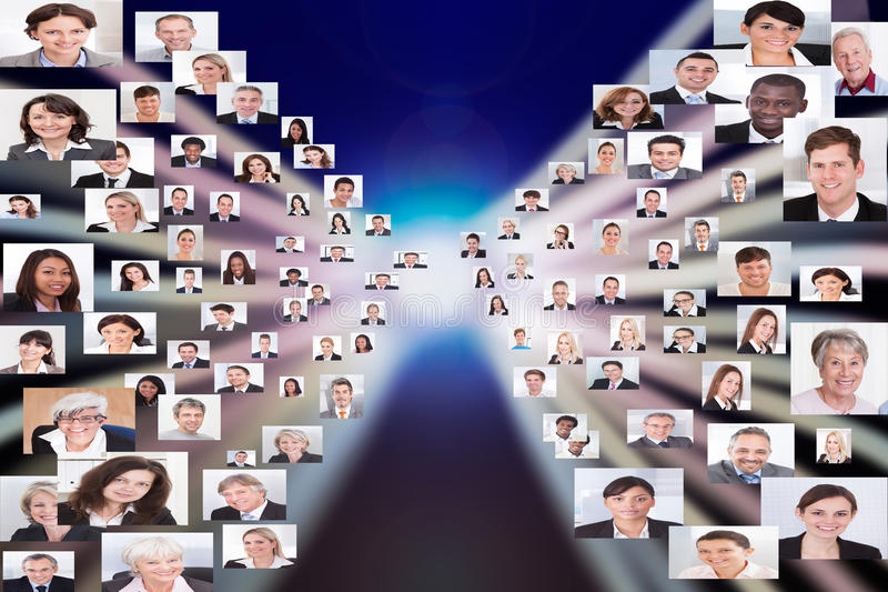 Collage Of Business People royalty free stock photography