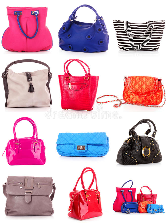 Download Collage Of Colorful Bags. Royalty Free Stock Photo - Image: 21654715