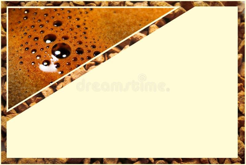 Collage con i dettagli del caffè fotografie stock libere da diritti