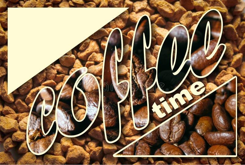Collage con i dettagli del caffè fotografie stock