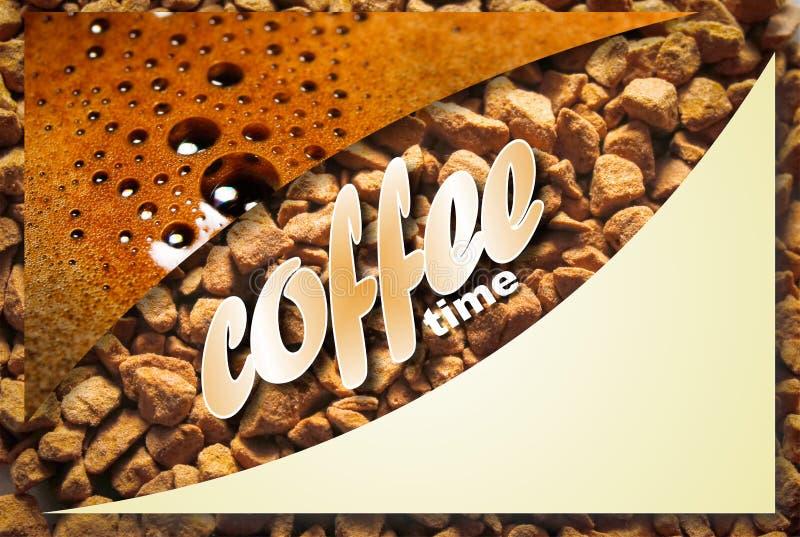 Collage con i dettagli del caffè immagine stock