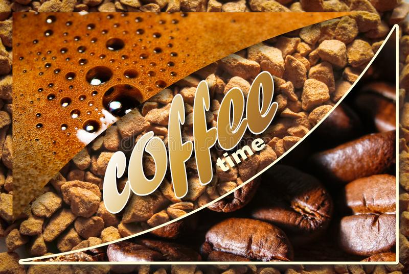 Collage con i dettagli del caffè immagini stock