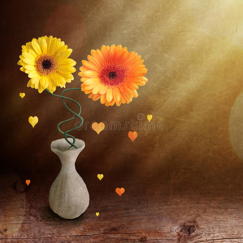 Collage con i fiori fotografie stock libere da diritti