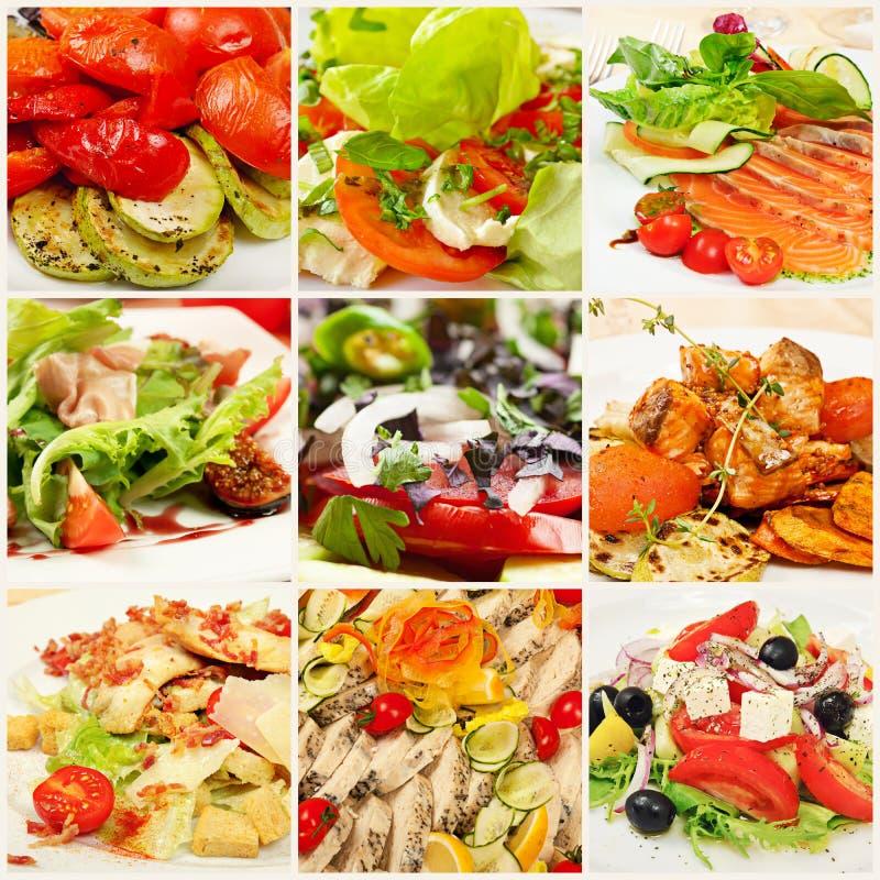 Collage con i pasti fotografie stock libere da diritti
