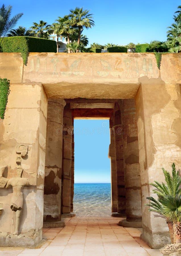 Collage con le belle viste dell'Egitto fotografie stock libere da diritti