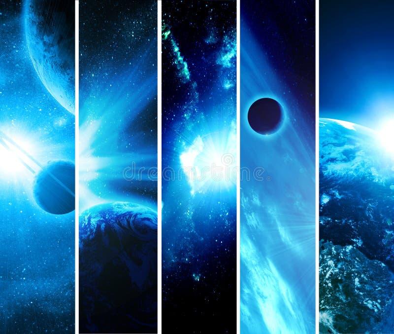 Collage con los planetas stock de ilustración