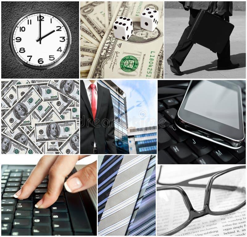 Collage concettuale di affari fotografia stock