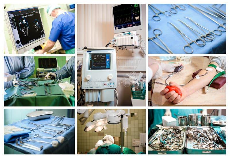 Collage concettuale medico fotografie stock