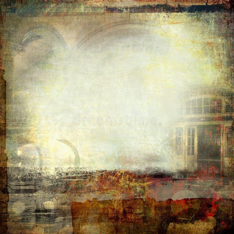 Collage creativo del grunge fotografie stock