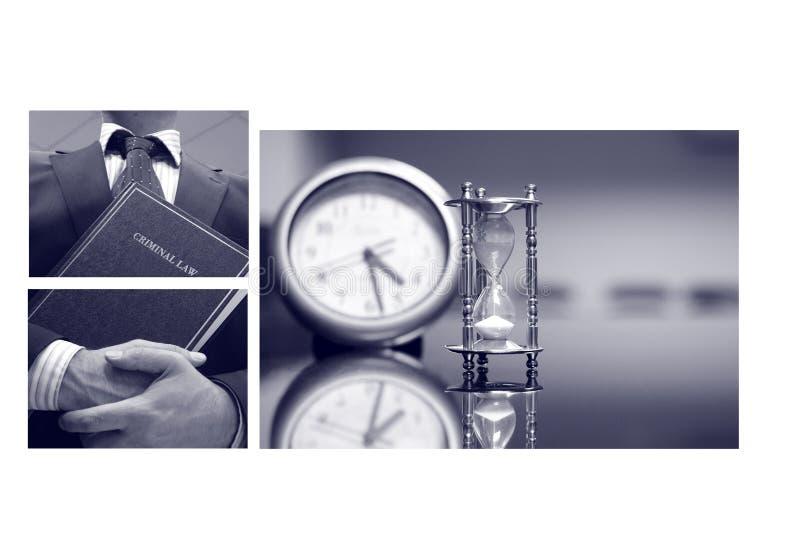 Collage d'affaires, concept de droit pénal photographie stock
