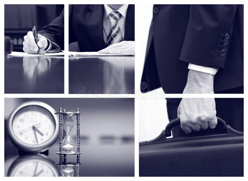 Collage d'affaires, concept de réunion d'affaires images stock