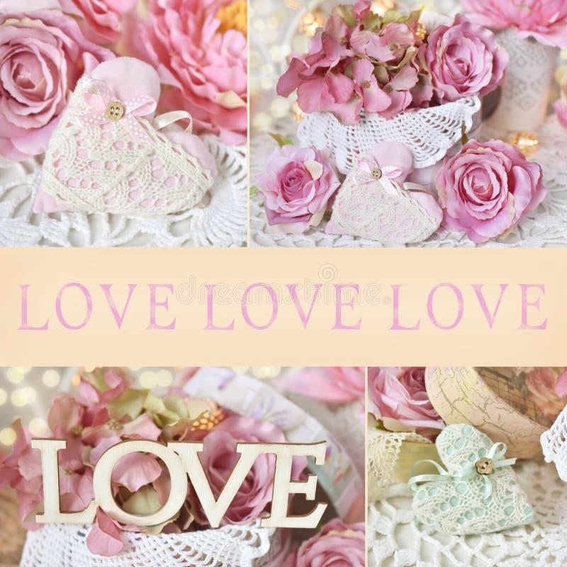 Collage d'annata di AMORE di stile immagine stock