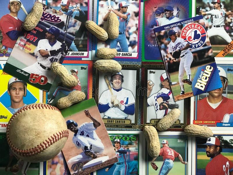 Collage d'annata di Montreal Expos immagine stock