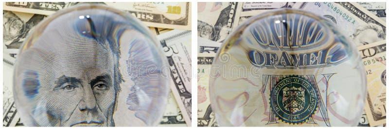 Collage d'argent liquide d'argent de portrait du Président Lincoln illustration stock