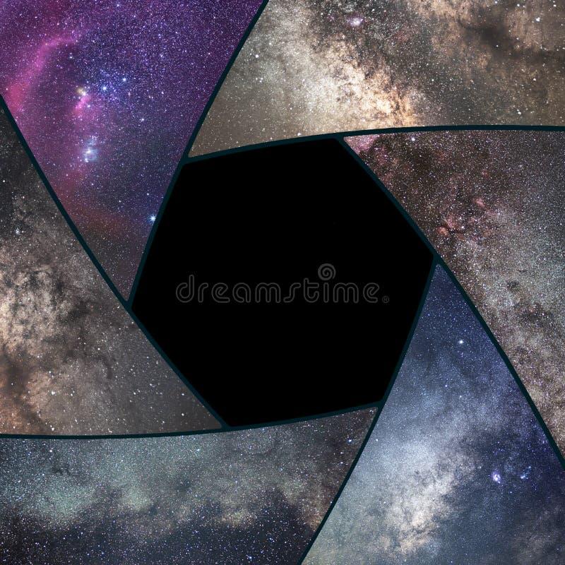 Collage d'Astrophotography Univers de collage de volet L'espace Astron photographie stock libre de droits