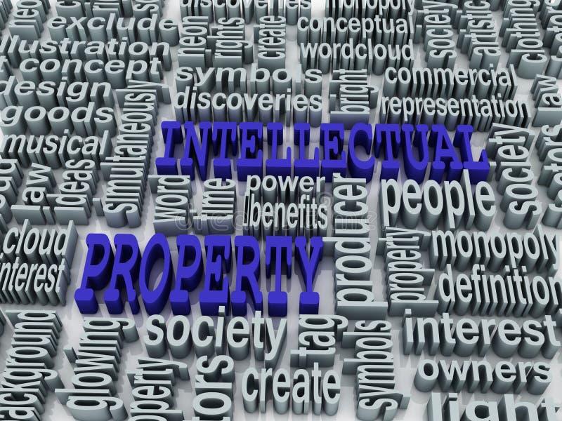 collage 3d de la propiedad intelectual libre illustration
